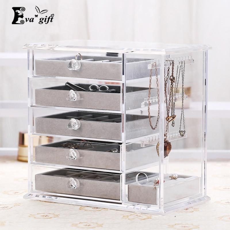 Large Storage Box Acrylic Make Up Organizer Drawer Makeup