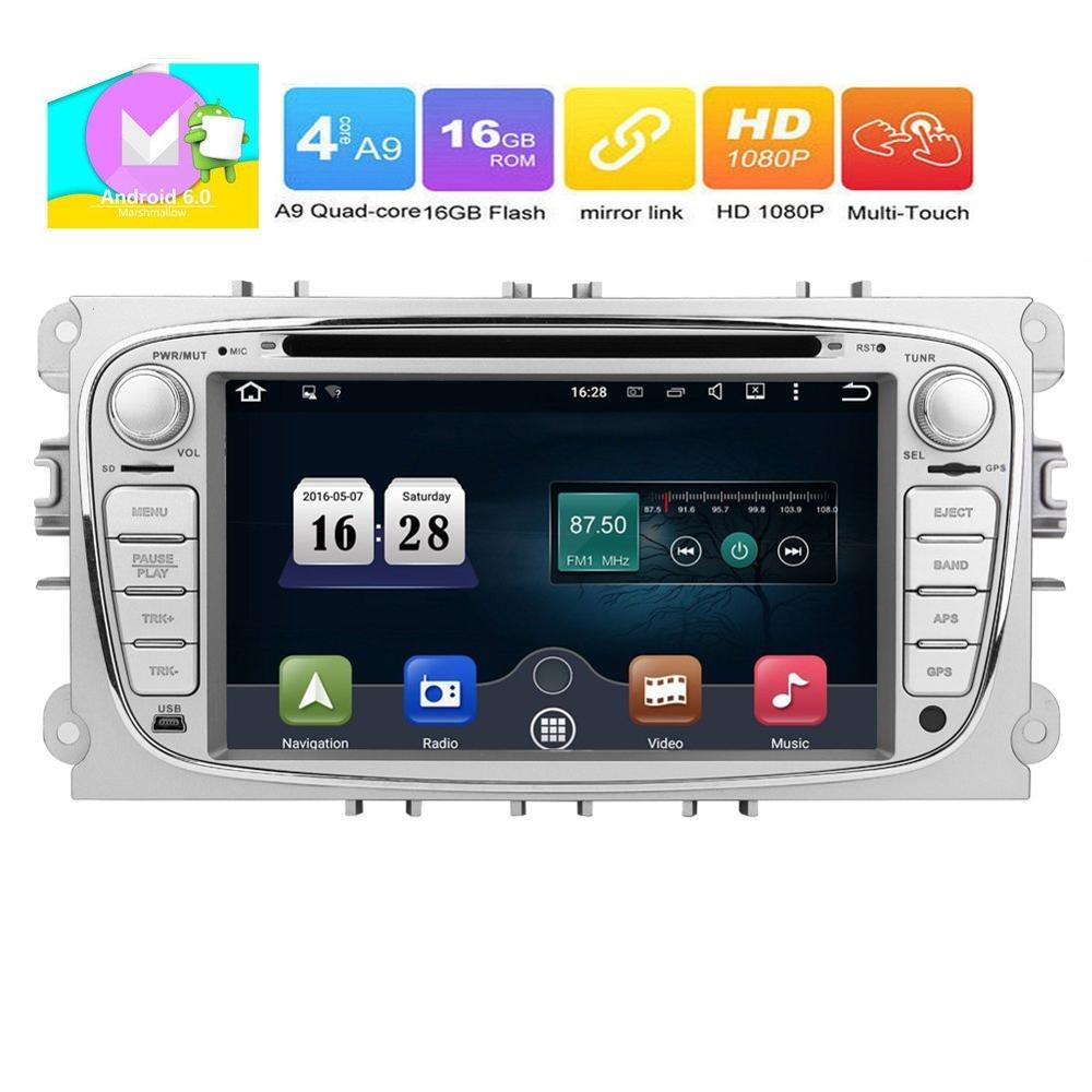 Eincar Android 6.0 Quad Core Car Radio in Dash 7inch Double Din Stereo Headunit for Ford Focus Mondeo Support GPS Navigation Mir