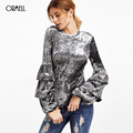 ORMELL Velvet Women Jumpsuit Romper 2017 New Year Sexy Backless One Piece Suit Winter Playsuit Flare Long Sleeve Overall