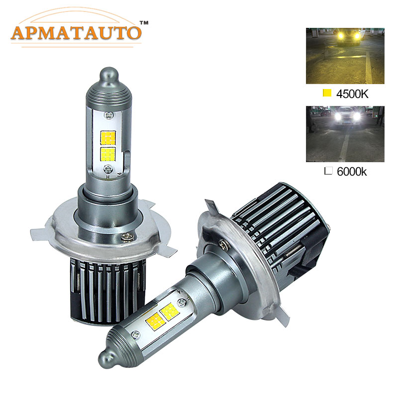 2X H1 H3 H4 H7 H11 H8 H9 9005 HB3 H10 9006 HB4 880 881 H27 LED Headlight Bulbs Dual Color 4500K 6000K 9600Lm Fog Light Headlamp