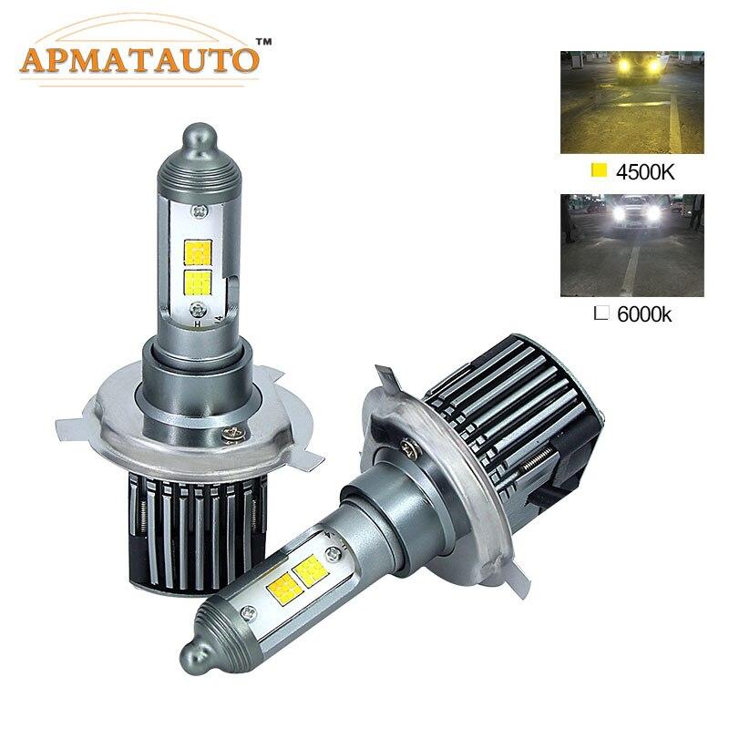 2X H4 H7 H11 H8 H9 9005 HB3 H10 9006 HB4 880 881 H27 LED Phare De Voiture Ampoules Double Couleur 4500 K 6000 K 9600Lm Brouillard Auto Projecteur