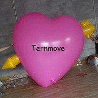 Гигантские надувные сердце с стрелка, прочный надувной стенд с Стрелка идет через сердце на День святого Валентина украшения