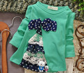 (1piece /lot) 100% cotton 2015 cute lace bow  outwear for baby girl clothes