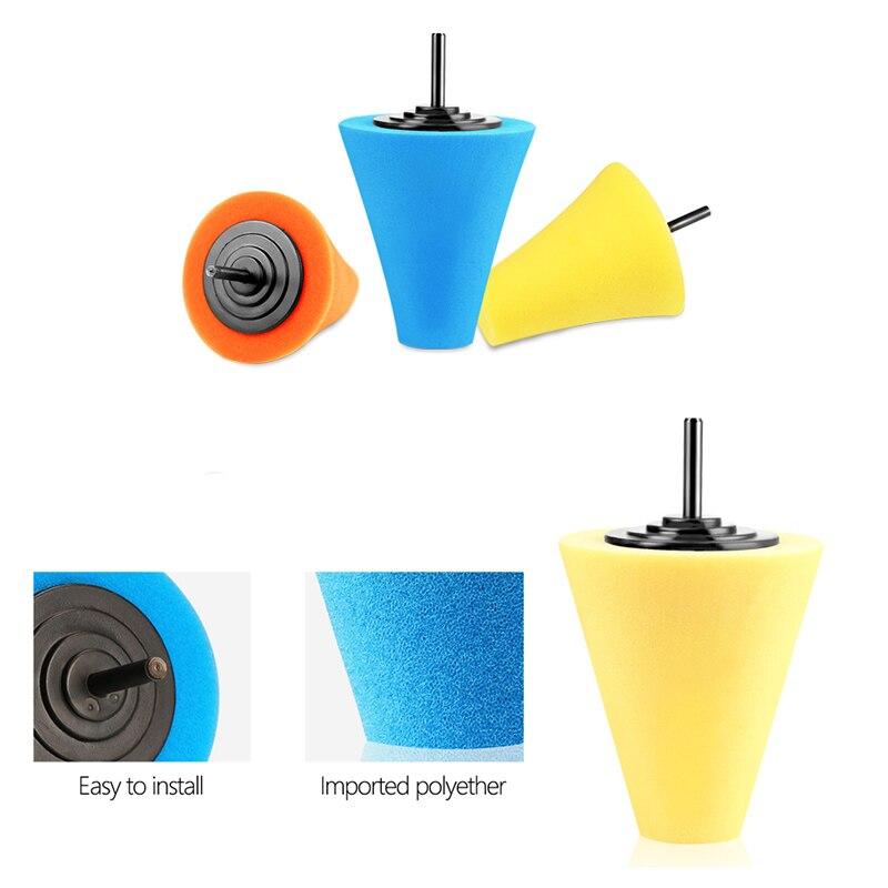 3Pcs Cone Sponge Pads and 2Pcs Ball Hub Polishing Wheel Buffing Car Beauty Waxing Car Polishing Pad Set Polishing Buffer Waxing in Polishing Pads from Tools