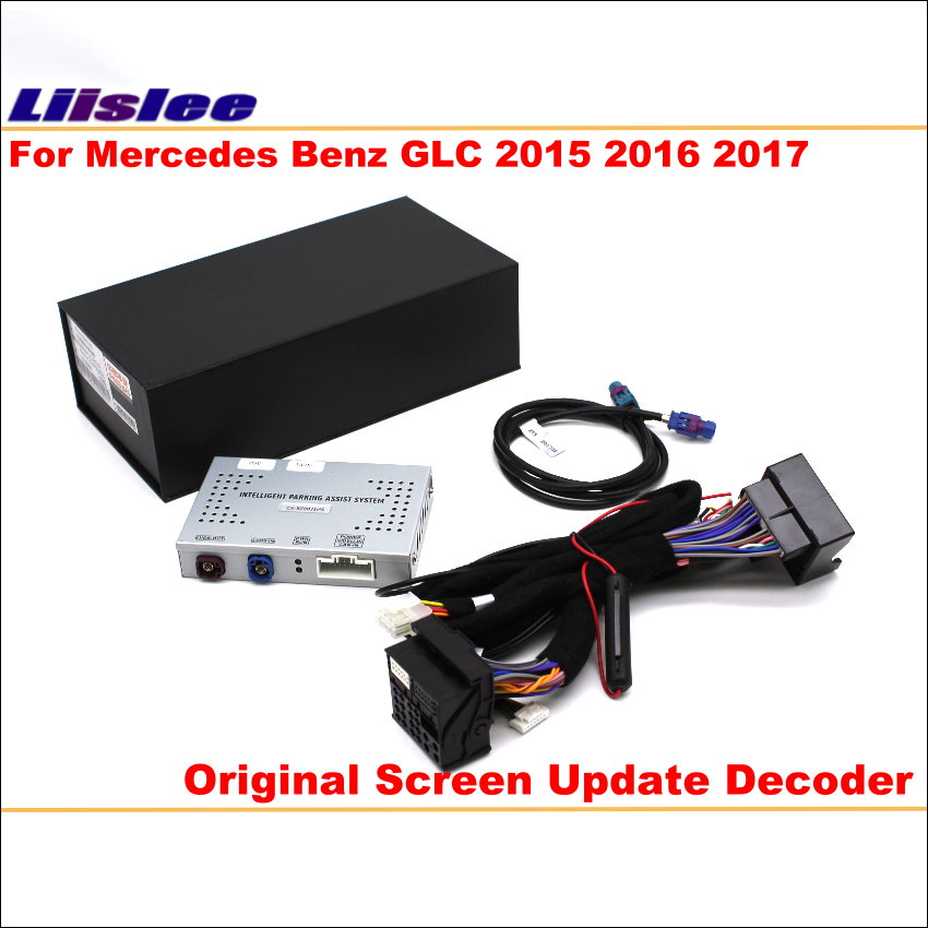 Liislee For Mercedes Benz GLC 2015 ~ 2017 Original Screen Update System / Digital Decoder / Reversing Track Image + Rear Camera