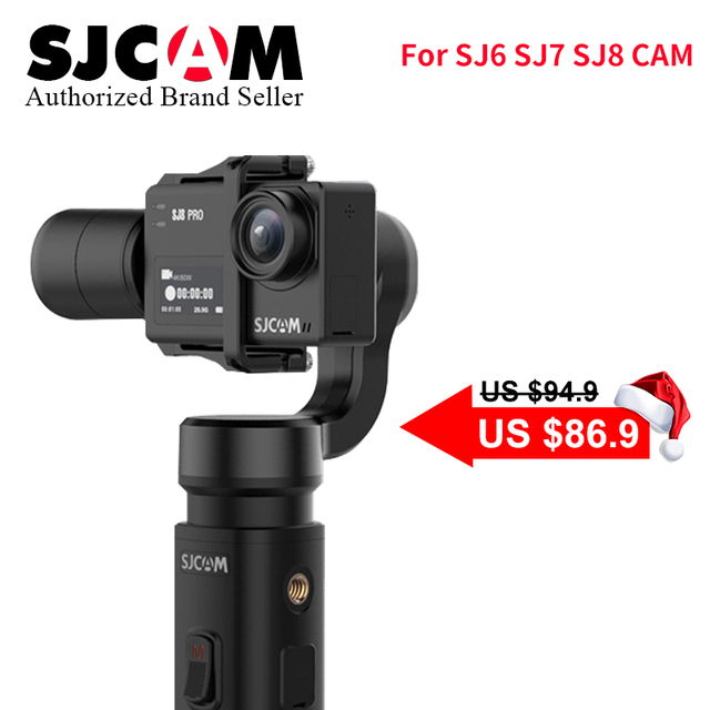 SJCAM Accessories SJCAM SJ8 Series SJ7 STAR SJ6 legend Handheld 3-Axis Gimbal 2 Stabilizer monopod for sj SJ8 plus pro yi 4k cam