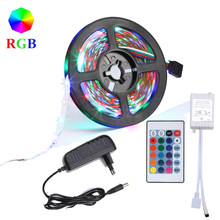 No-impermeable 5 M RGB Led de luz de tira de 2835 DC12V 60 Leds/M Flexible cinta azul blanco/caliente Blanco/Rojo/verde de(China)