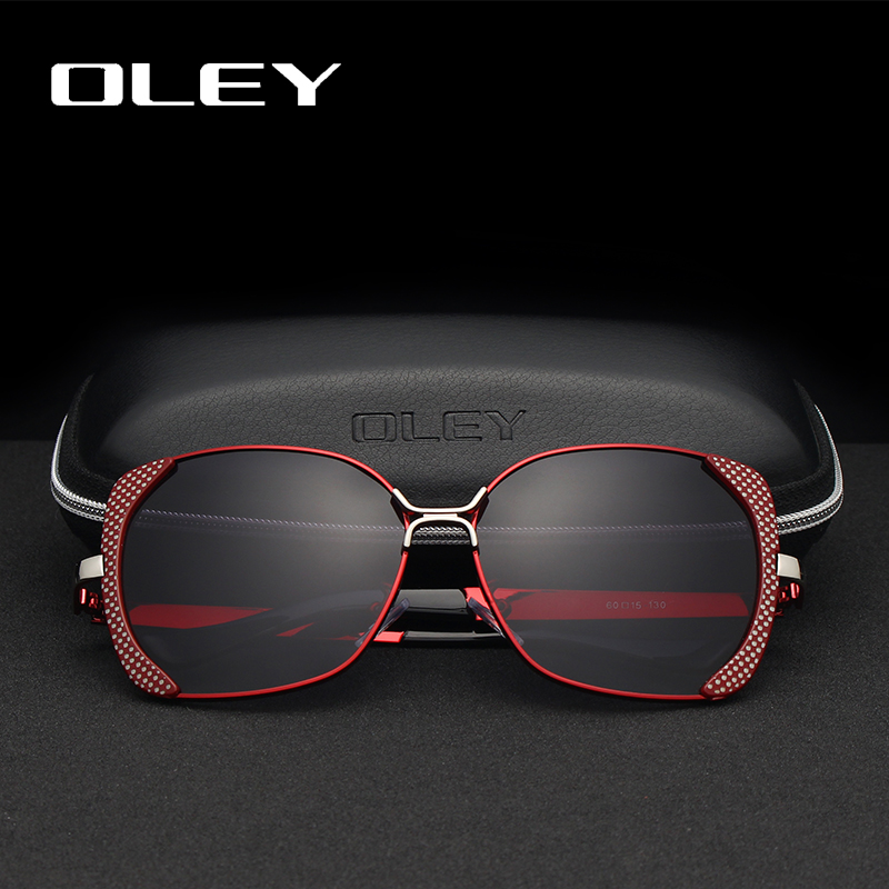 OLEY Polarized Sunglasses Women's Goggles Frame Classic Uv-Protection Retro Butterfly