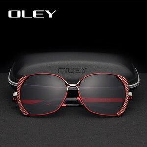 Женские солнцезащитные очки OLEY, классические брендовые поляризационные очки в стиле ретро с большой оправой и бабочкой, Y5190