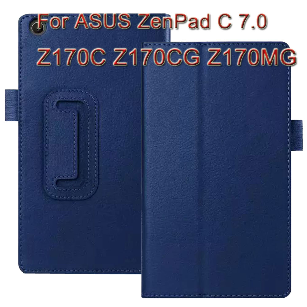 3 in 1 ,Top Quality Litchi Pattern Stand Tablet Case Cover For ASUS ZenPad C 7.0 Z170C Z170CG Z170MG + Screen Protector + Stylus
