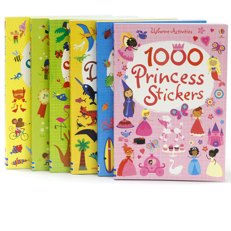 1000pcs Kids Reusable Carton Stickers Children Scene Sticker Book Dinosaur Animals Princess Cool for Preschool Kindergarten my first dinosaur sticker activity book