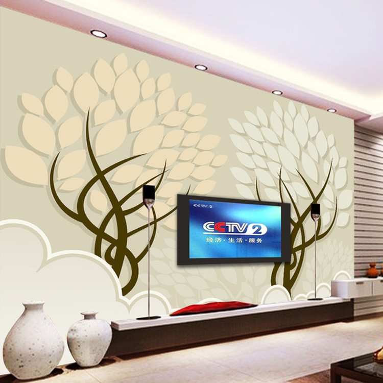 Large stereo seamless 3D mural wallpaper living room sofa bed bedroom TV background wallpaper modern minimalist