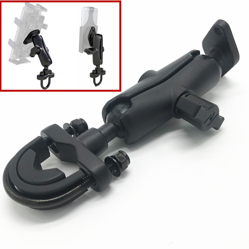Generic Aluminum Motorcycle Handlebar Mount + long Socket Arm for Garmin for Zumo for TomTom Rider compatible for ram mounts garmin zumo 395