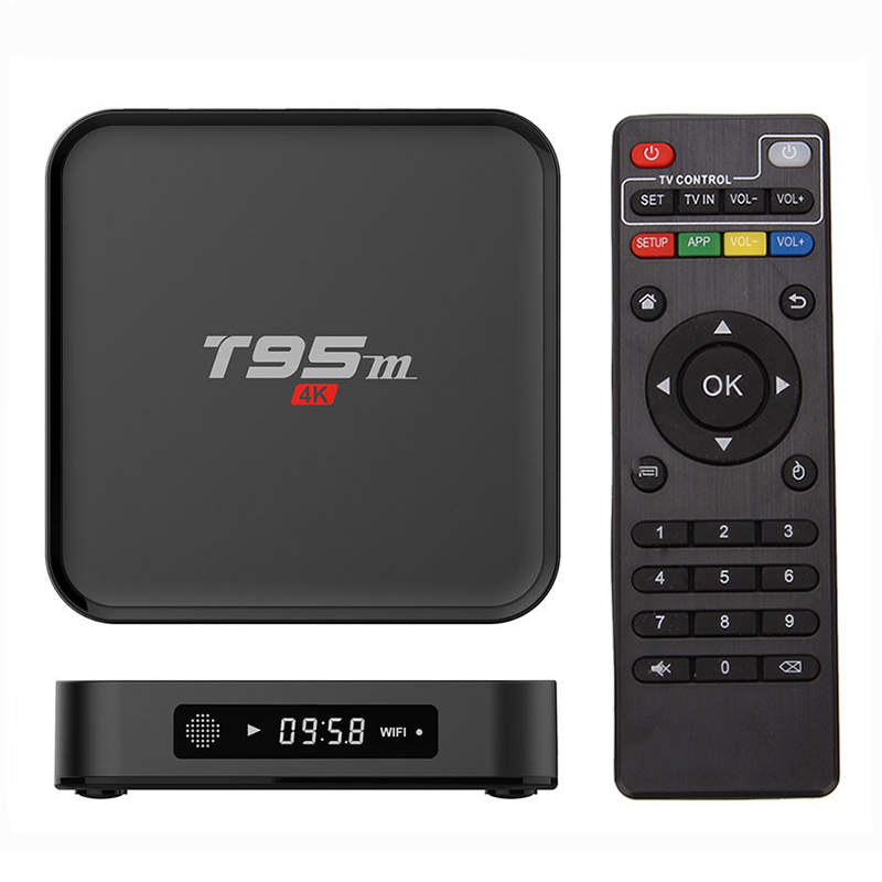 Prix pour T95M Android TV Box Quad Core Amlogic S905X 64bit UHD 2 K * 4 K IPTV KD Miracast DLNA Smart Set Top Box Media lecteur