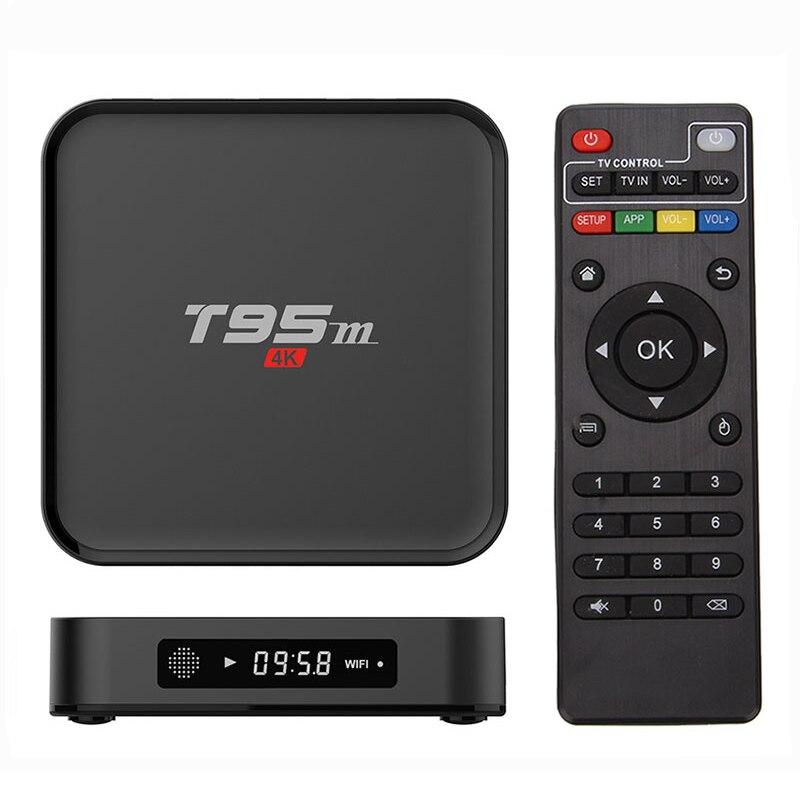 T95M Android TV Box Quad Core Amlogic S905X 64bit UHD 2 K * 4 K KD IPTV Miracast