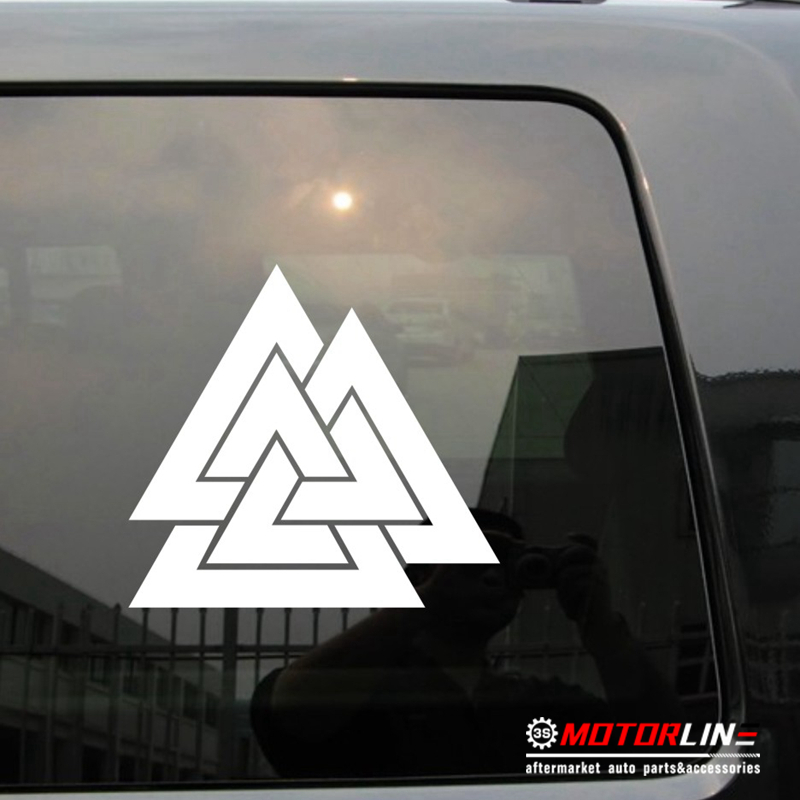 Us 22 Valknut Symbol Old Norse Viking Decal Sticker Car Vinyl Pick Size Color Die Cut No Background In Car Stickers From Automobiles Motorcycles