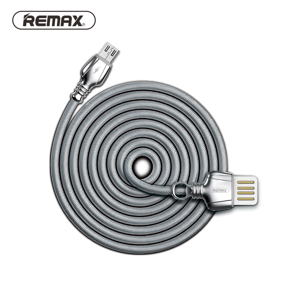 REMAX Dual side USB Metal Micro USB Data Cable with braided wire ...