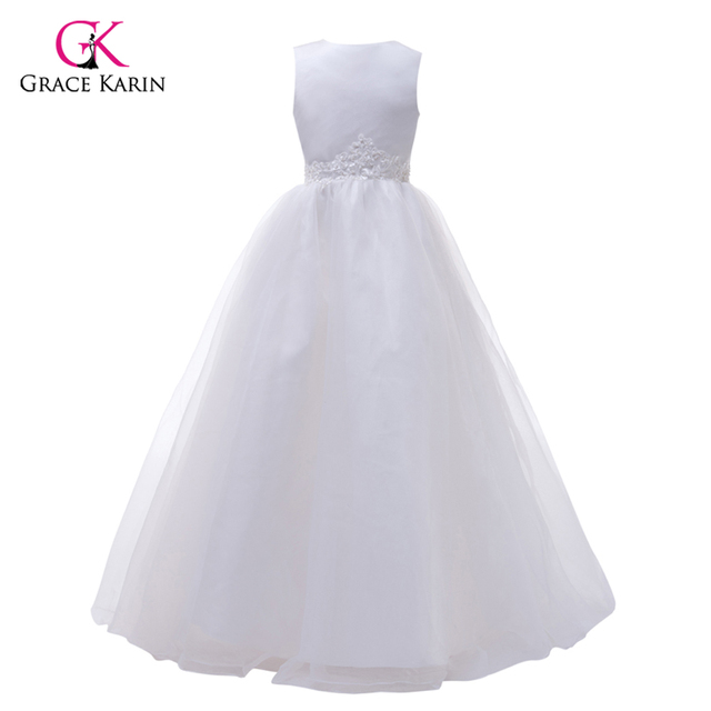 Grace Karin Kids Flower Girl Dresses Voile Satin Pageant Party ...