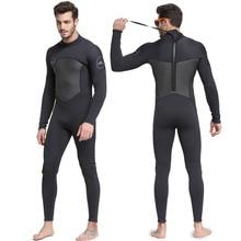 Профессиональный новый цельный неопреновый 3 мм водолазный костюм Зима с длинным рукавом Для Мужчин гидрокостюм предотвращения Медузы подводное плавание костюм Бесплатная доставка S753