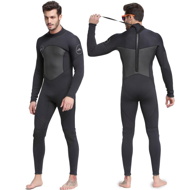 Sbart nouveau une-pièce néoprène 3mm combinaison de plongée hiver à manches longues hommes combinaison prévenir les méduses combinaison de plongée en apnée livraison gratuite S753