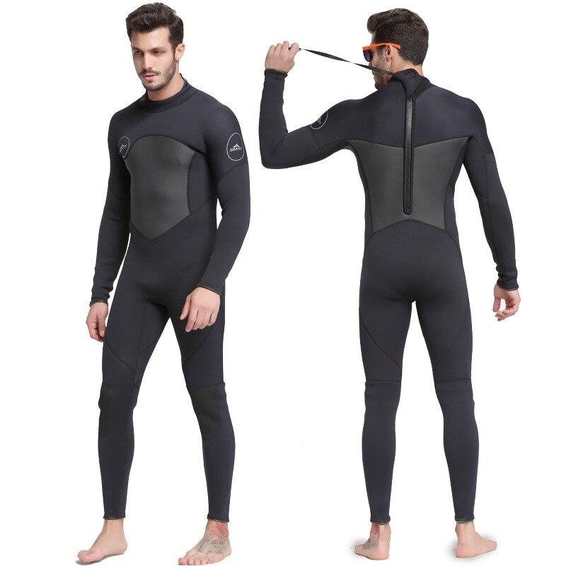 Sbart novo neoprene de uma peça 3mm mergulho terno de inverno manga longa homem wetsuit evitar medusa snorkeling terno frete grátis s753