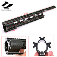 Tactical AK47 74 AKs Quad Rail See through Scope Mount Tactical Quad Rails Handguard with Rail Covers for Hunting Shooting
