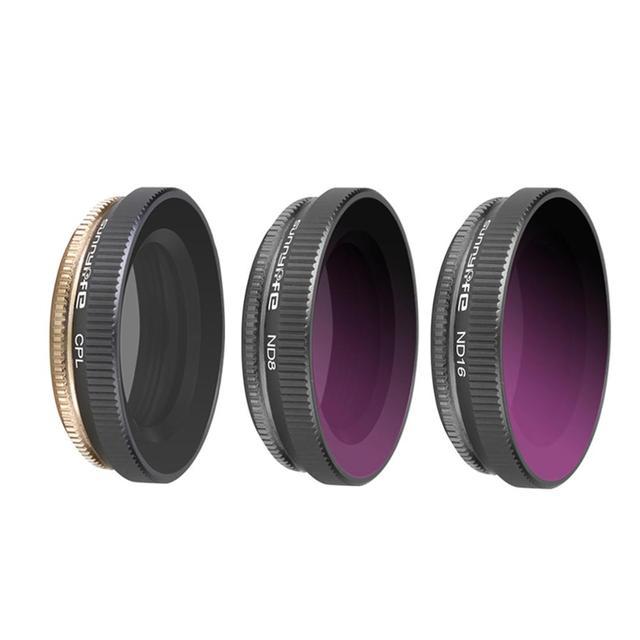 ND Cpl シリーズ CPL + ND8 + ND16 ミックスレンズフィルターセットアクションカメラレンズフィルター DJI OSMO アクションジンバルカメラアクセサリー