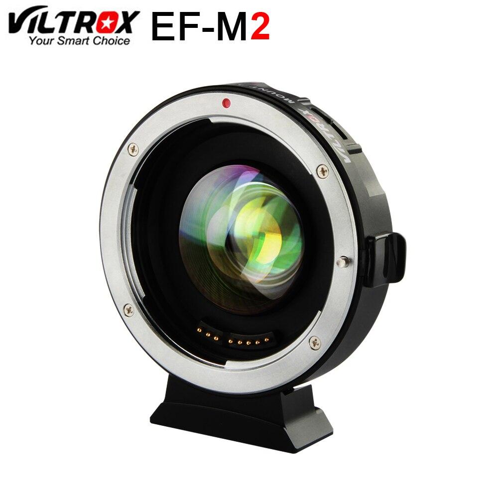 Viltrox EF-M2 AF EXIF 0.71X уменьшить Скорость Booster адаптер для объектива turbo для объектива Canon EF к M43 Камера GH4 GH5 GF6 GF1