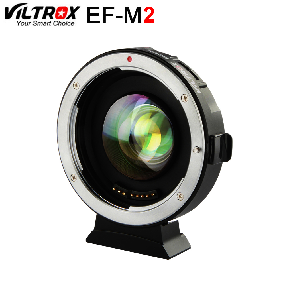 Viltrox EF-M2 AF EXIF 0.71X Reduce Speed Booster Lens Adapter Turbo for Canon EF lens to M43 Camera GH4 GH5 GF6 GF1 commlite cm ef mft electronic aperture control lens adapter for ef ef s lens m4 3 camera