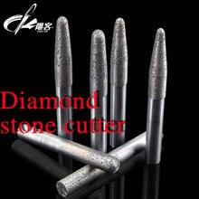 1 шт. спеченные Инструменты конический камень Биты для гравировки резаки на жестком граните алмазный камень резак фрезы для камня