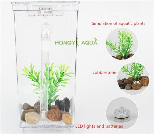 Fish & Aquariums Official Website Desktop Mini Plastic Creative Goldfish Tank Small Aquarium Betta Fish Tank Selected Material Pet Supplies