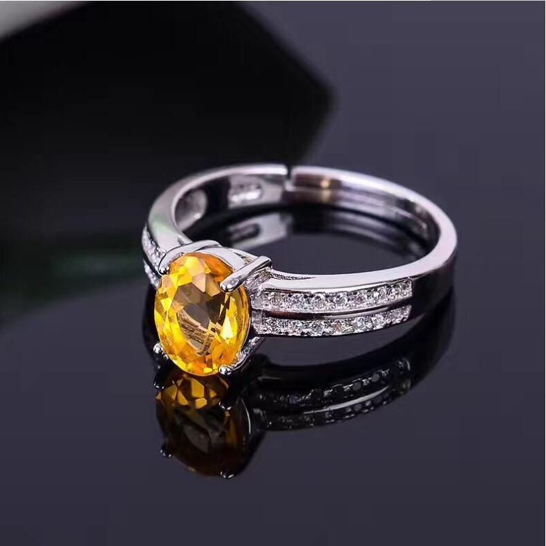 Citrine ring Free shipping Real and natural citrine 925 sterling silver Fine yellow gem For women 10*11mm GemCitrine ring Free shipping Real and natural citrine 925 sterling silver Fine yellow gem For women 10*11mm Gem
