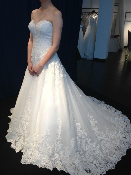 2018 Sweetheart Organza Lace Bridal Gown Romantic Tulle Vestido De Noiva Custom Made Free Shipping Mother Of The Bride Dresses