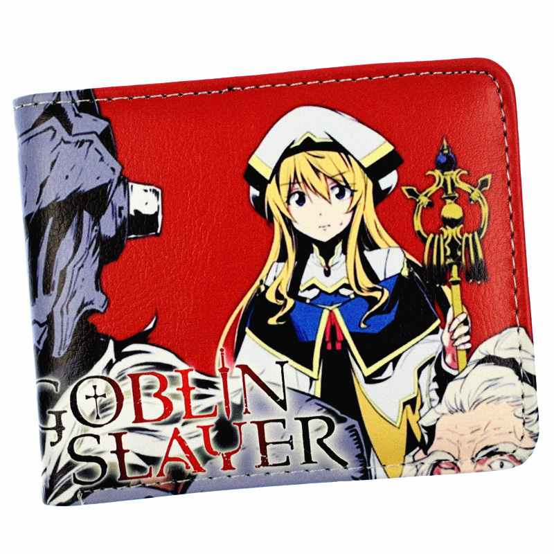FVIP Anime Cartoon Goblin Slayer Wallet Bi-Fold Short Wallet With Coin PocketFVIP Anime Cartoon Goblin Slayer Wallet Bi-Fold Short Wallet With Coin Pocket