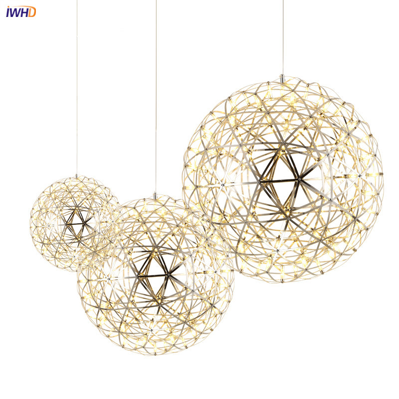 IWHD Nordic Ball LED Pendant Light Fixtures Dinning Living Room Kitchen Hanging Lights Modern Pendant Lamps Hanglamp Luminaire