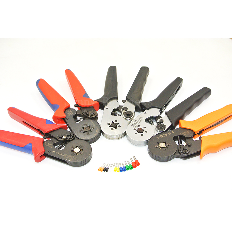 Crimper Plier HSC8 6-4 Self-adjusting Crimping Tools Used for 23 - 10 AWG (Similar to 0.25 - 6 mm2) Cable End-sleeves Ferrules