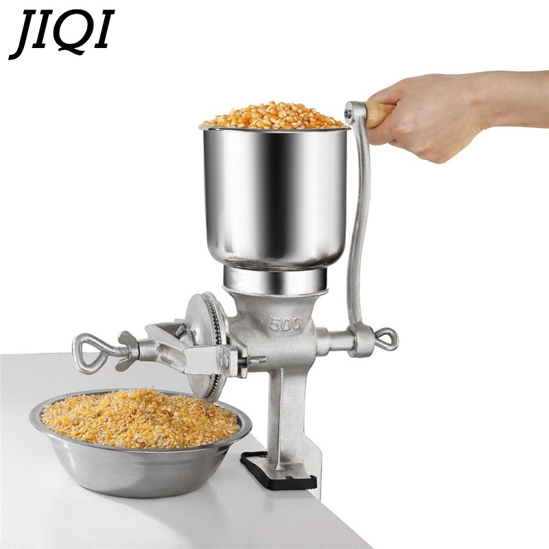 JIQI Grain Grinder Malt Crusher Craft Beer Factory Price High Quality Crusher Wholesale Nut Crusher Brewing Tool Maize Crusher 9fz 21 two feed port corn crusher tooth claw grinder
