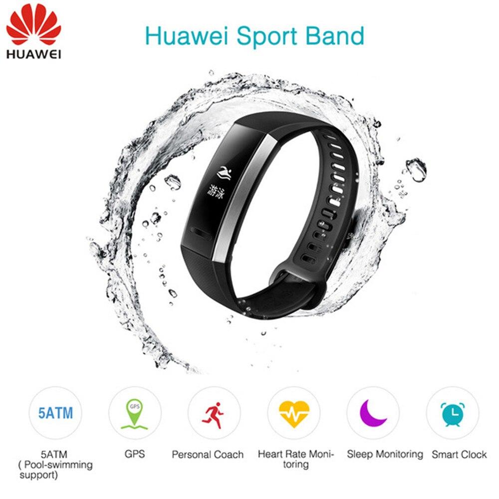 цена на Huawei Band 2 Pro B29 B19 Smart Bracelet Fitness Wristband PPG Heart Rate monitor Swimming Waterproof Bluetooth Original B19 B29