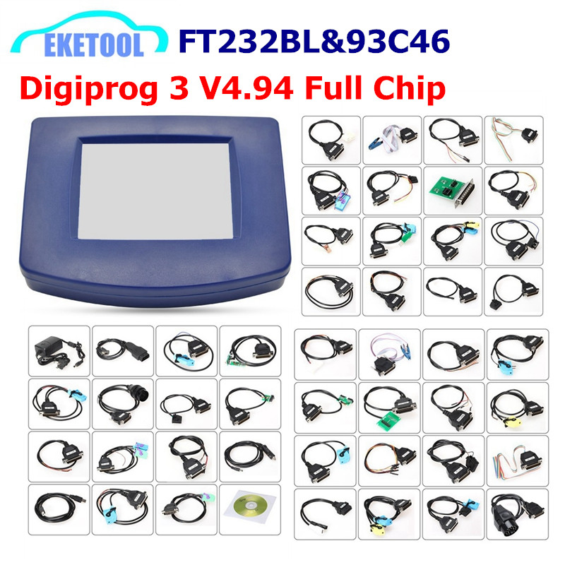 Digiprog 3 V4 94 Mileage Correction Works Multi Cars Multi Language Digiprog3 FT232BL 93C46 Chip Digiprog