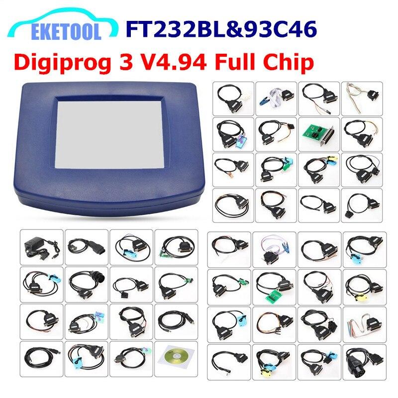Digiprog 3 V4.94 de corrección de kilometraje funciona Multi-coches Multi-idioma Digiprog3 FT232BL y 93C46 Chip Digiprog III DHL envío rápido
