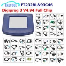 Digiprog Herramienta de corrección de kilometraje 3 V4.94, multicoche, varios idiomas, y 93C46 Digiprog3 FT232BL, Chip Digiprog III, envío rápido por DHL