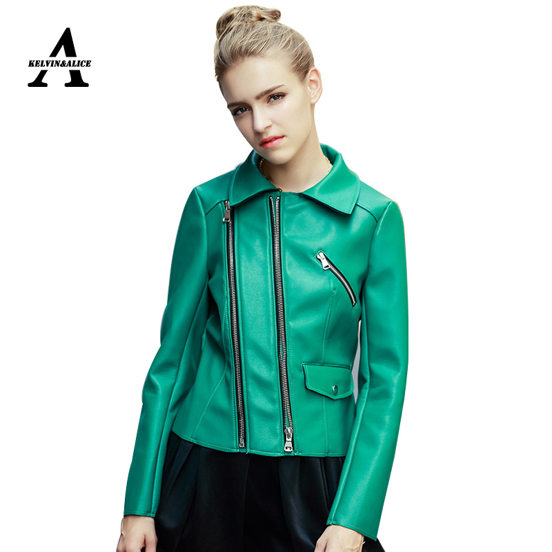 Popular Women's Green Leather Jacket-Buy Cheap Women's ...