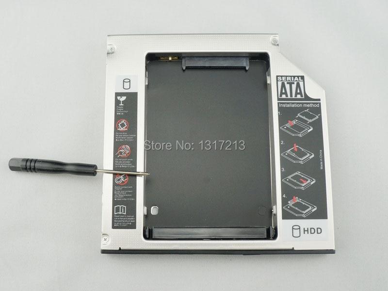 Neue 12,7mm sata zweite hdd festplatte caddy adapter aluminium für hp probook...