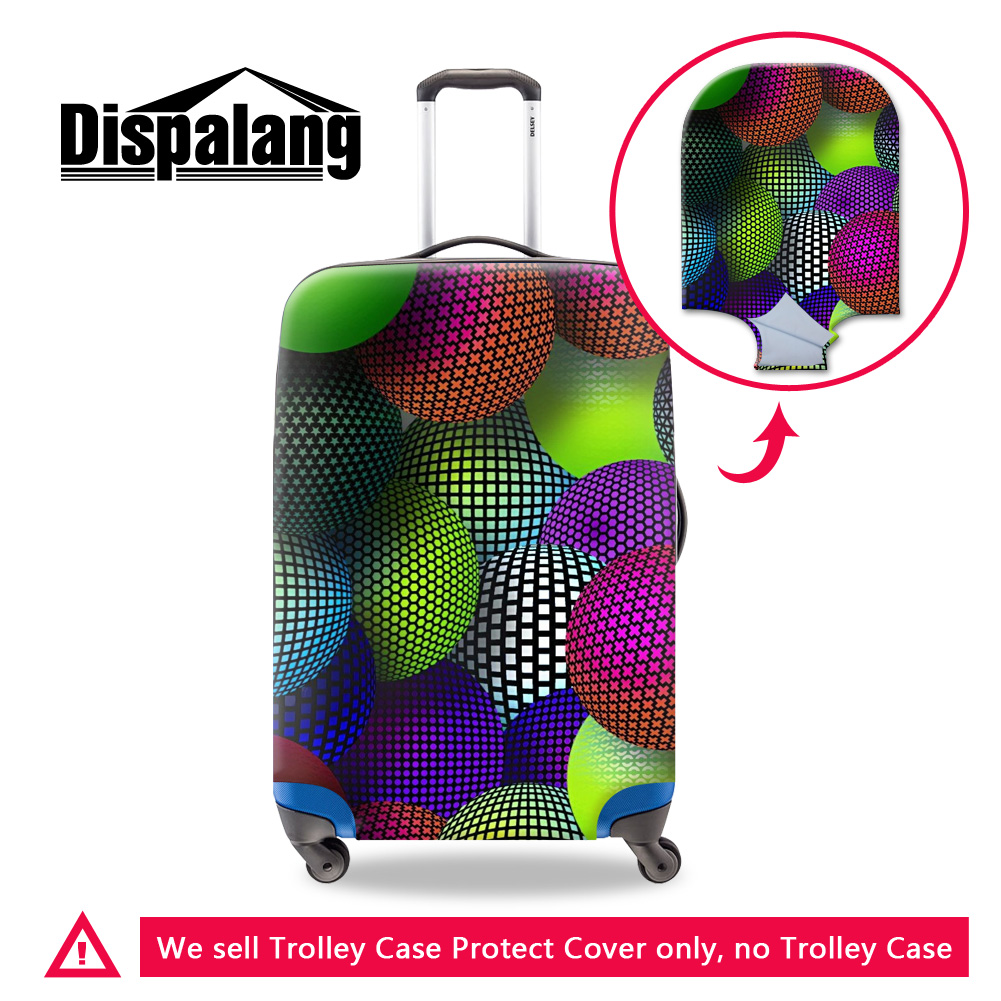 Dispalang circular painting font b travel b font suitcase luggage cover Characteristic design thick elastic trolley