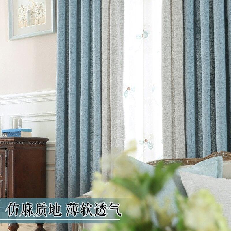 Moderne und schlichte Vorhänge für Wohnzimmer Schlafzimmer Studie - Haustextilien - Foto 4