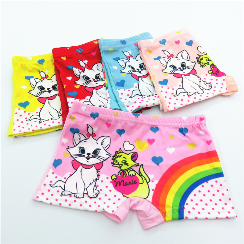 5pcs/lot Children Girl Underwears Cartoon Lovely Panties Milk Silk Princess Underpants Panty 2-12Year