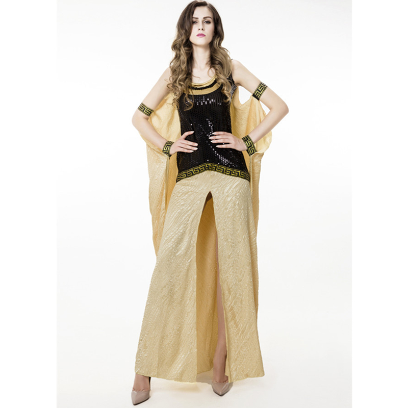 Cleopatra Halloween Costume Female Goddess of War Cosplay Game Cosplay Party Suit Hallowmas Sequins Dress