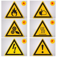 Высокое качество 5/за штуку Предупреждение знаки Стикеры s логотип безопасности воды этикетки-доказательство Предупреждение теги панель стены делая машину, Стикеры
