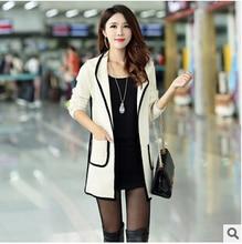 women jacket The new autumn and winter women's hooded sweater Korean Slim long cardigan coat free shipping