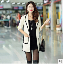 women jacket The new autumn and winter women s hooded sweater Korean Slim long cardigan coat